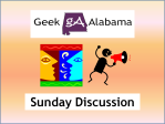 Geek Alabama Discussion