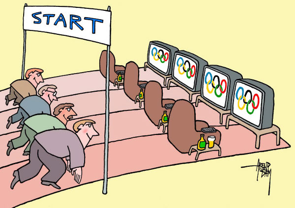 Image result for olympics cartoons images