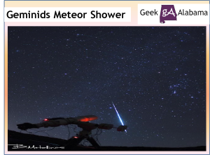 Geminids Meteor Shower Peaking Tonight