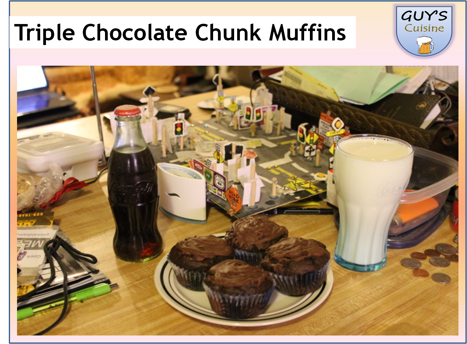 Triple Chocolate Chunk Muffins | Geek Alabama