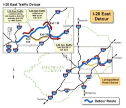 I-20EastTrafficDetour