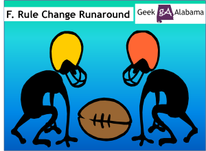 The Football Rule Change Runaround