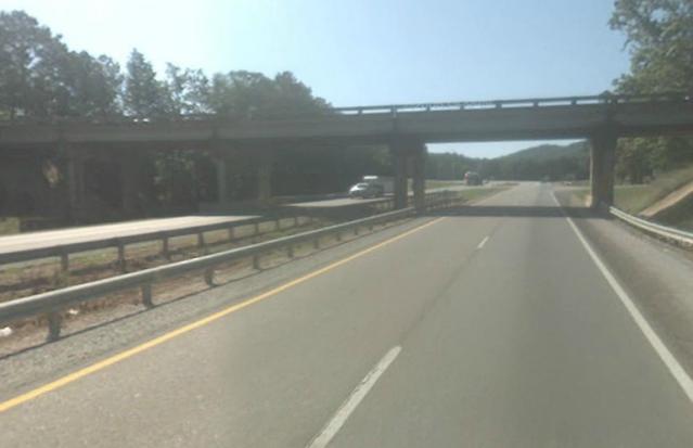 Former bridge.  From Google Maps.