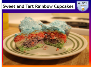 Sweet and Tart Rainbow Cupcakes