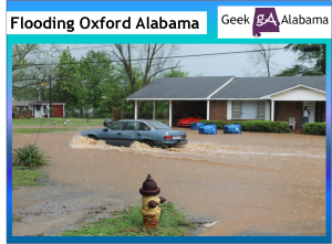 Major Flooding in Oxford Alabama