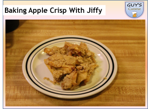 Baking A Apple Crisp With Jiffy Baking Mix
