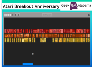 Play the Atari Breakout Game on Google Images