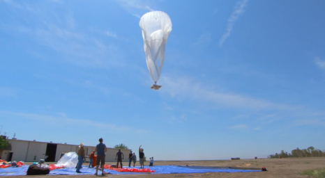 Project Loon launch screencap Google video