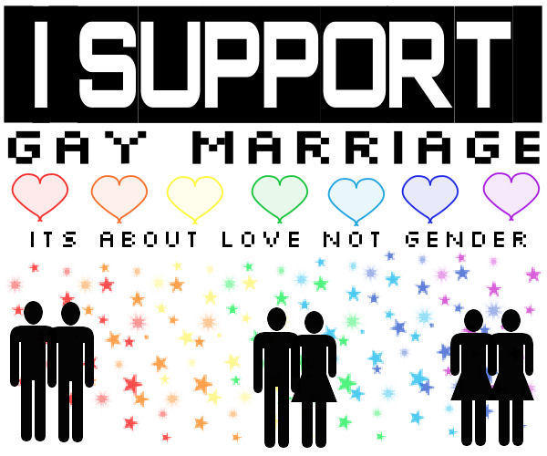 of marriage support homosexual