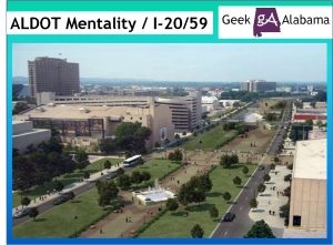 The ALDOT Mentality Over the I-20 / I-59 Birmingham Project