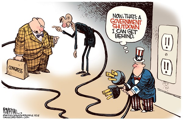 Animation Monday Government Shutdown Political Cartoons