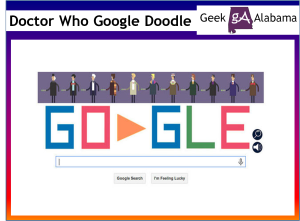 Play the Doctor Who 50th Anniversary Google Doodle Game