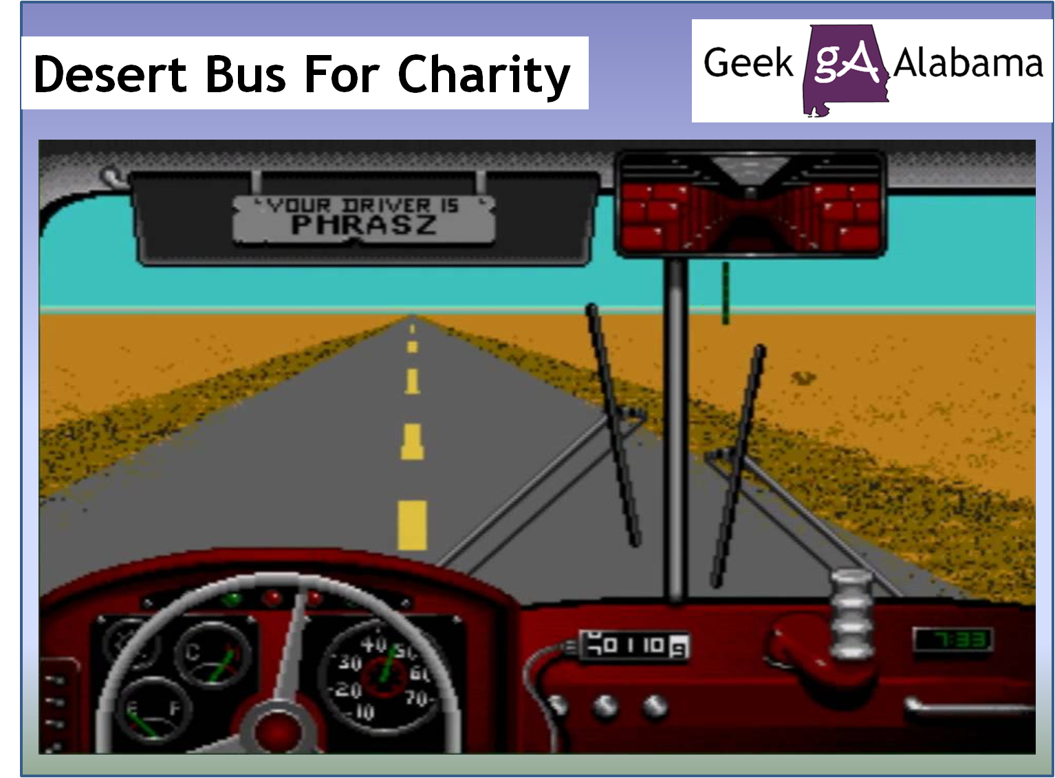 Geek on bus