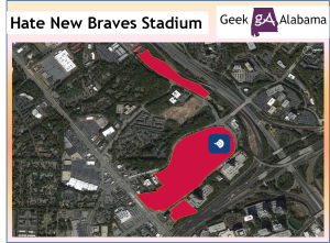 Why I Hate The New Atlanta Braves Stadium Location