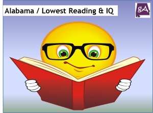 Alabama Has One Of The Lowest Reading Scores And IQ's In America
