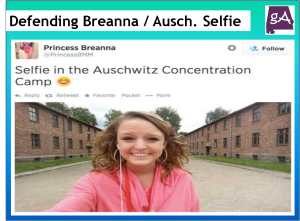 A Post Defending Breanna Mitchell And Her Auschwitz Selfie