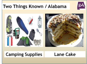 Camping Supplies and Lane Cake, Two Things Alabama Is Known For