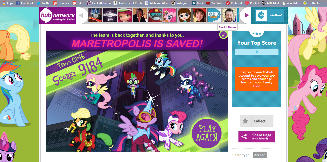 play power ponies go while you watch the my little pony mega mare