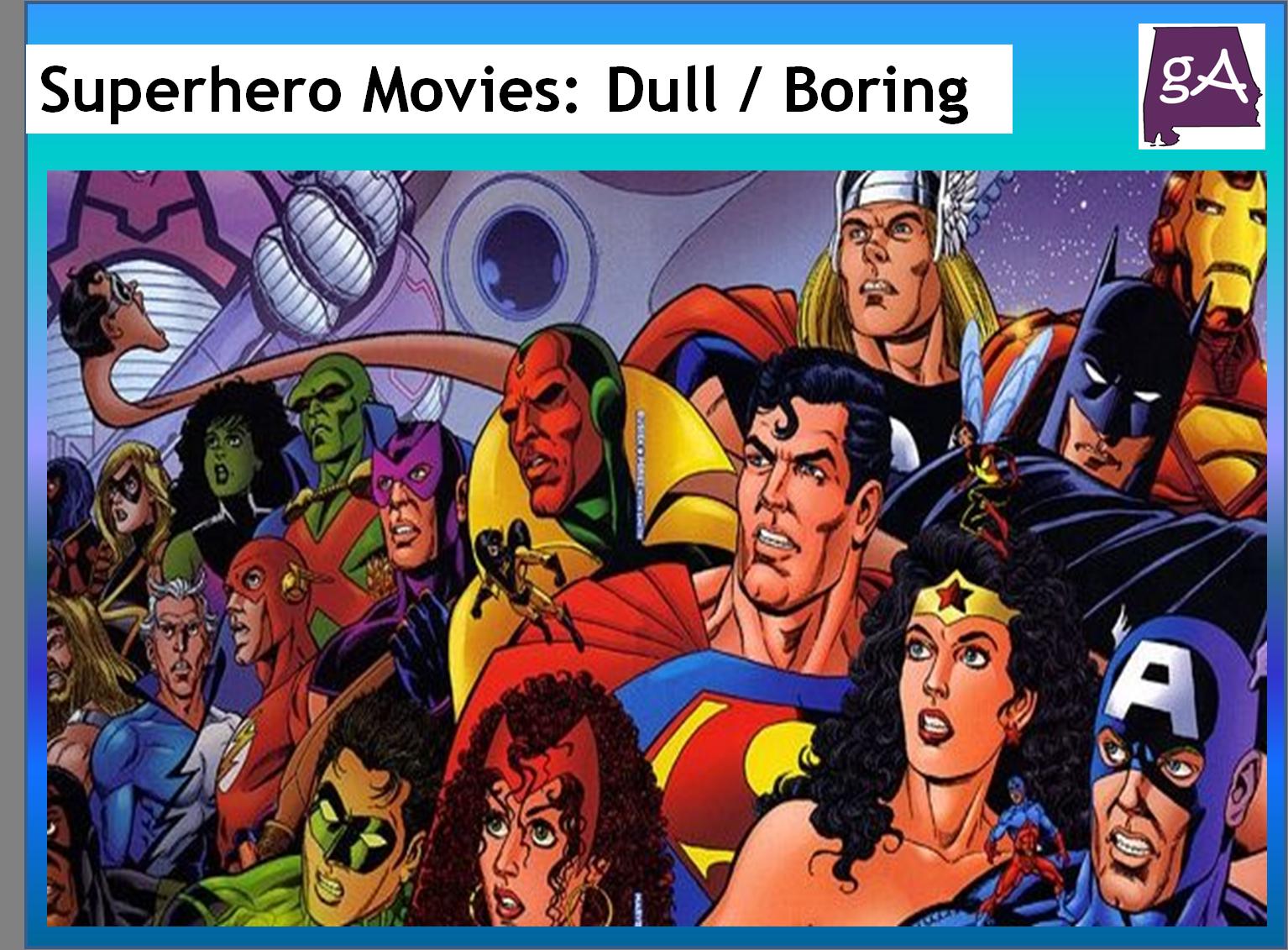Superhero Movie Schedule