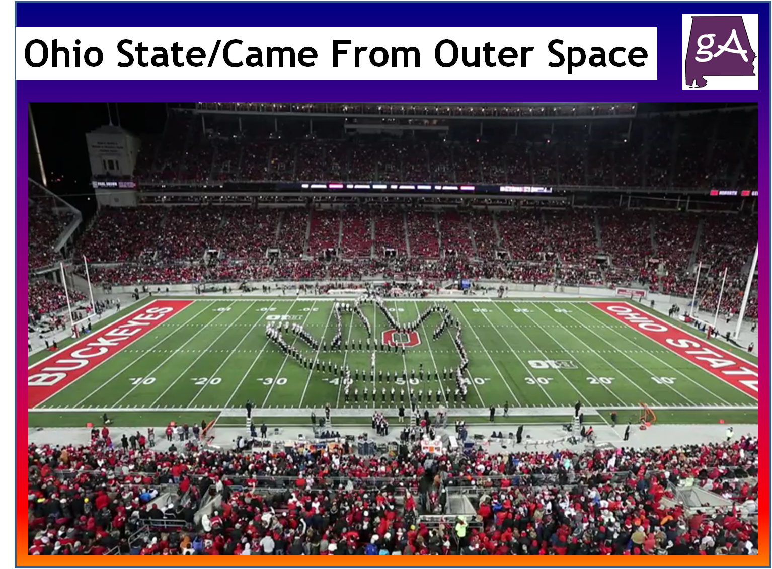 Watch the ohio state they came from outer space halftime for The thing that came from outer space