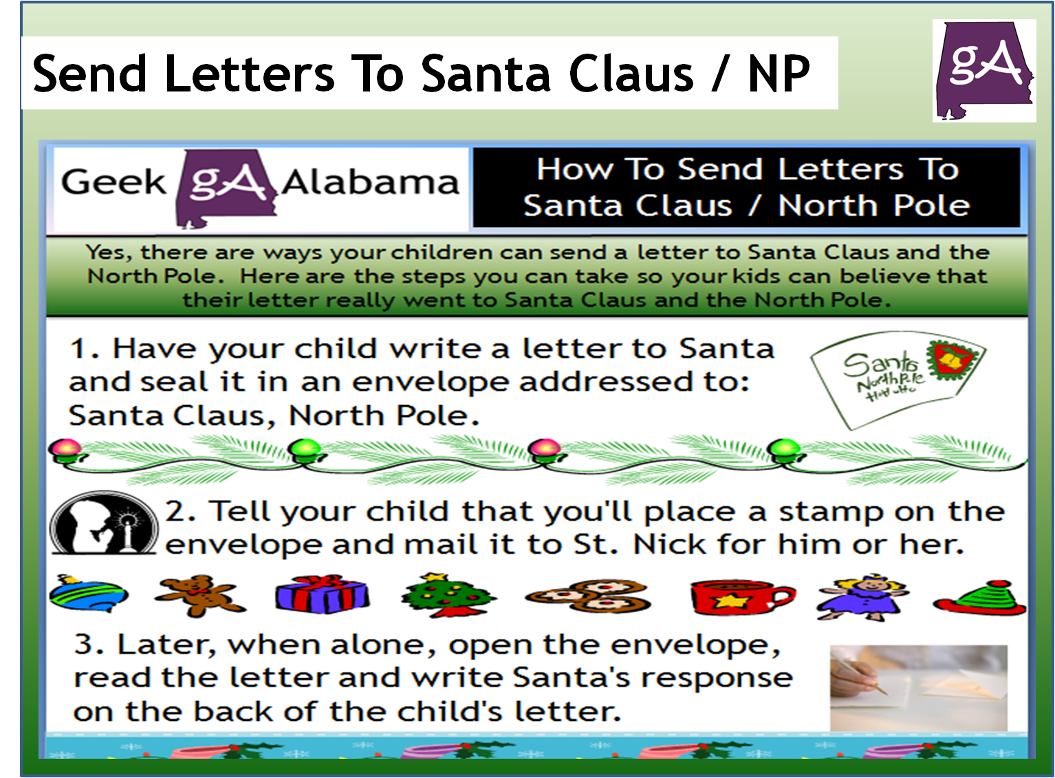 View The How To Send Letters To Santa Claus And North Pole