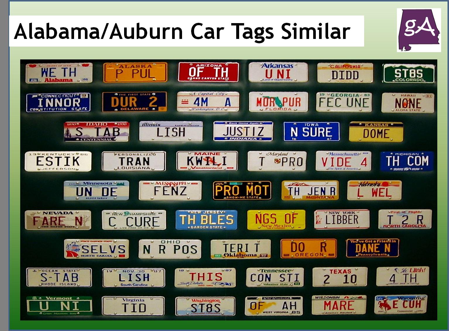 Alabama Car Tags >> Why Do The New Alabama And Auburn Car Tags Look Similar Geek Alabama