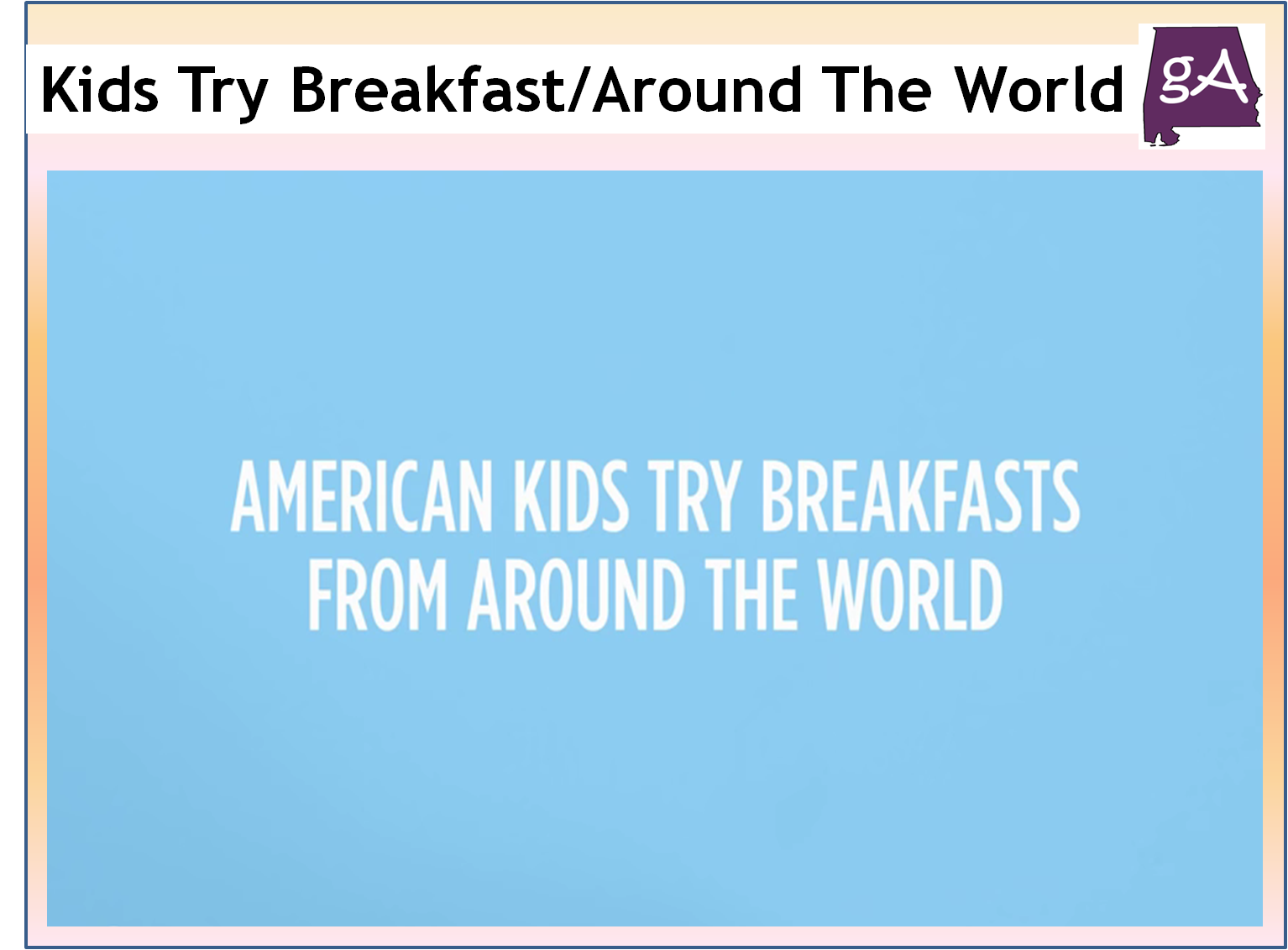 American Kids Try French Food Vostf