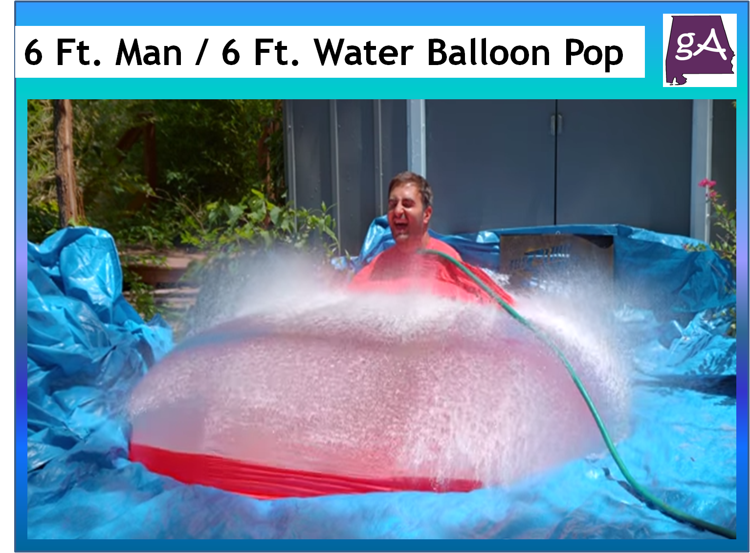 The Youtube Channel The Slow Mo Guys Did A Super Summer Activity Daniel Gruchy Climbed Inside A Giant Six Foot Water Balloon As It Gets Filled With Water