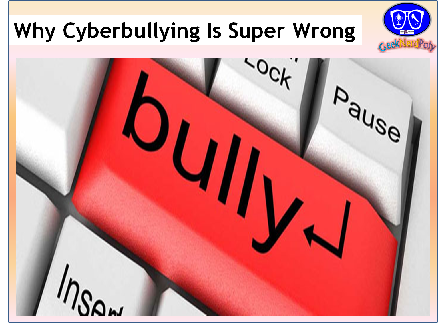 bullying is wrong I have been bullied before and let me just tell you now, it doesn't feel good i am a small sixth grader that used to be a victim of bullying i weigh 67 pounds and my height is 4'5.