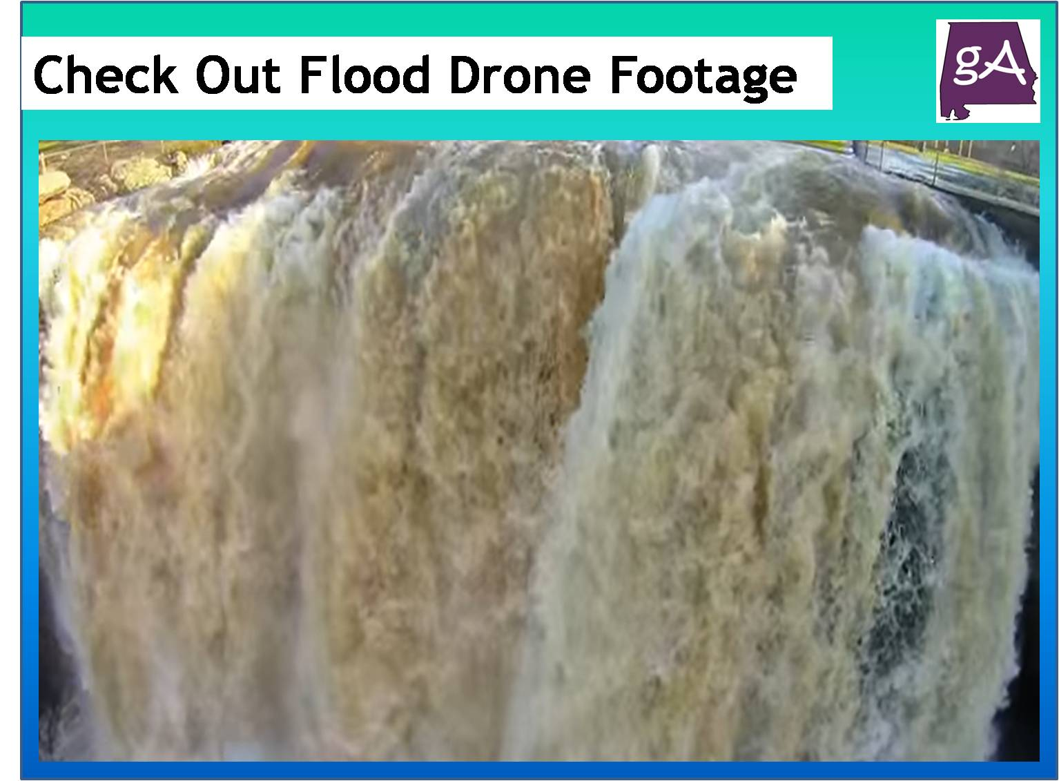 Check Out Flood Drone Footage Of Noccalula Falls, Yellow Creek Falls ...