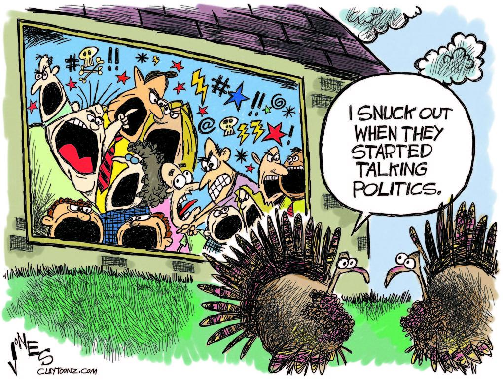 Animation Monday Thanksgiving Political Cartoons 2017