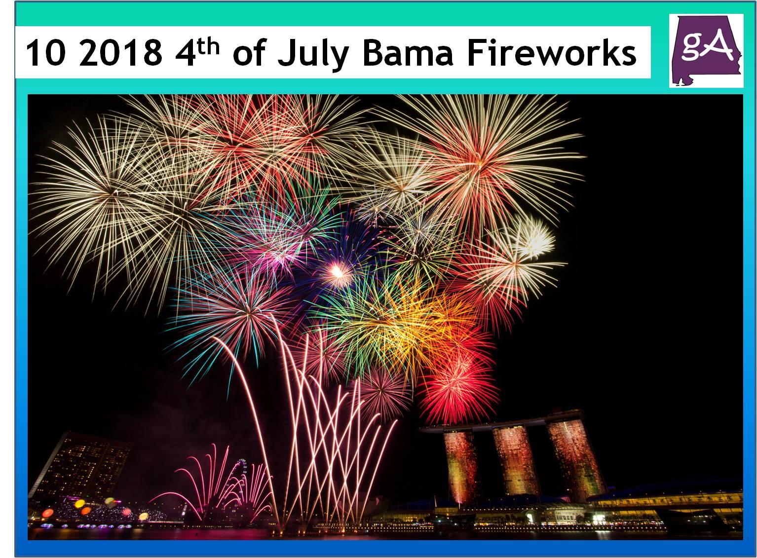 Ten 2018 Alabama 4th Of July Firework Shows Worth